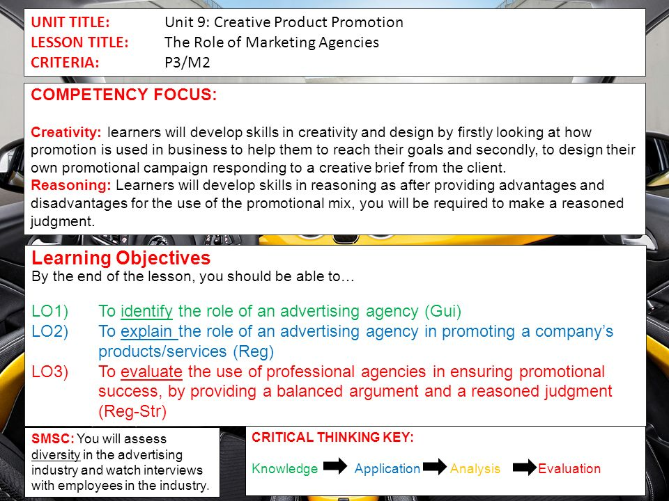 unit 9 creative product promotion task 2
