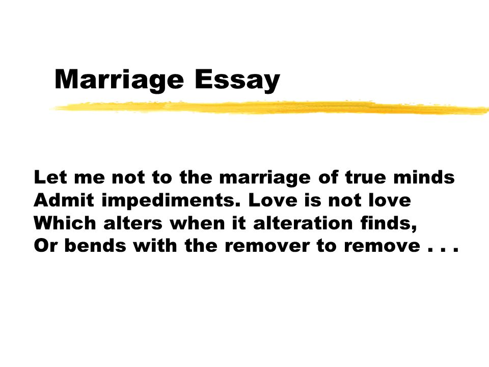 married essay