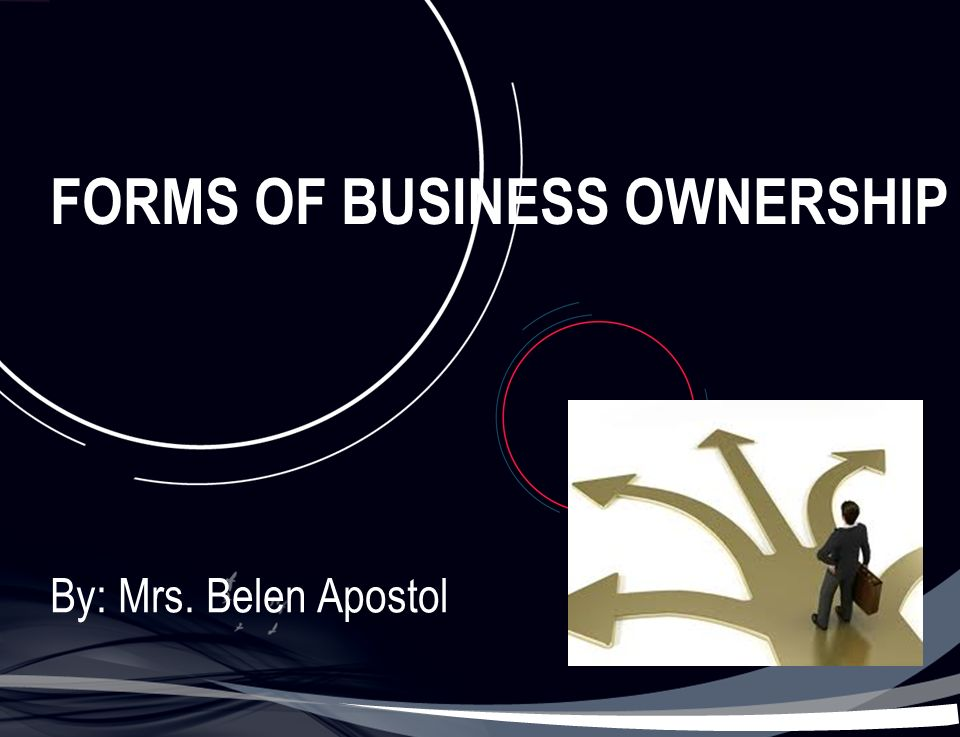 FORMS OF BUSINESS OWNERSHIP By: Mrs. Belen Apostol. - ppt download
