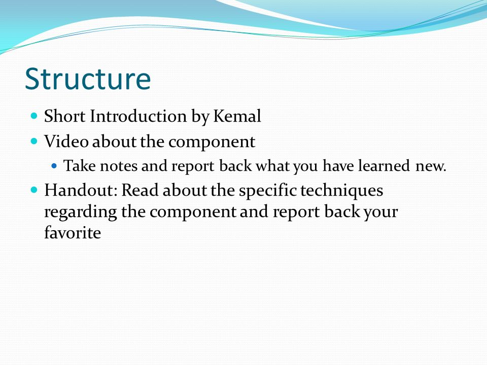 Preparation Write content objectives clearly for students.