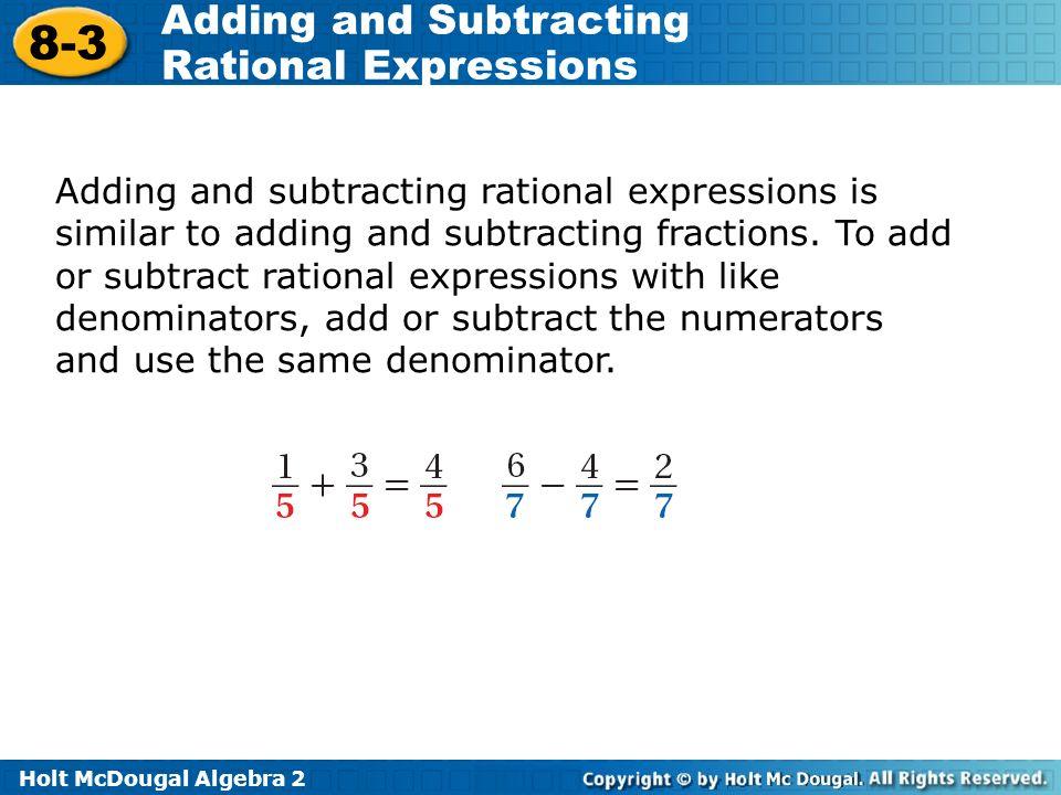 Problem solving rational algebraic expression examples