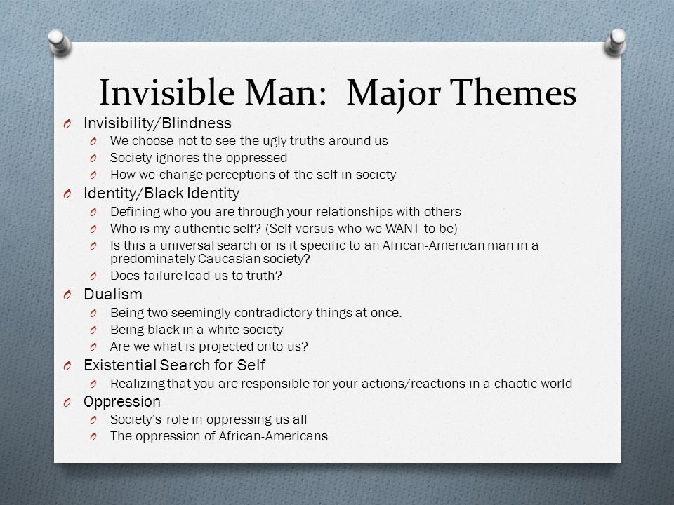 existentialism in the invisible man