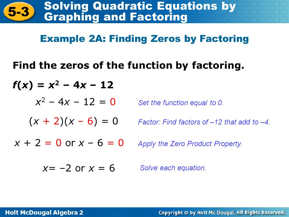 Glencoe Algebra 2 5 3 Solving Quadratic Equations By Factoring – Glencoe Algebra 2 Worksheet Answer Key