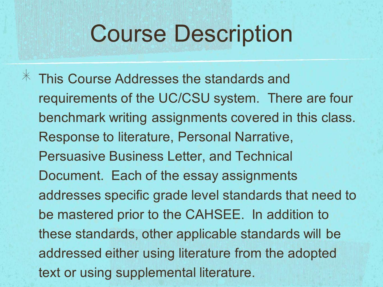literature assignments