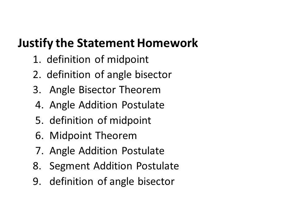 Definition homework