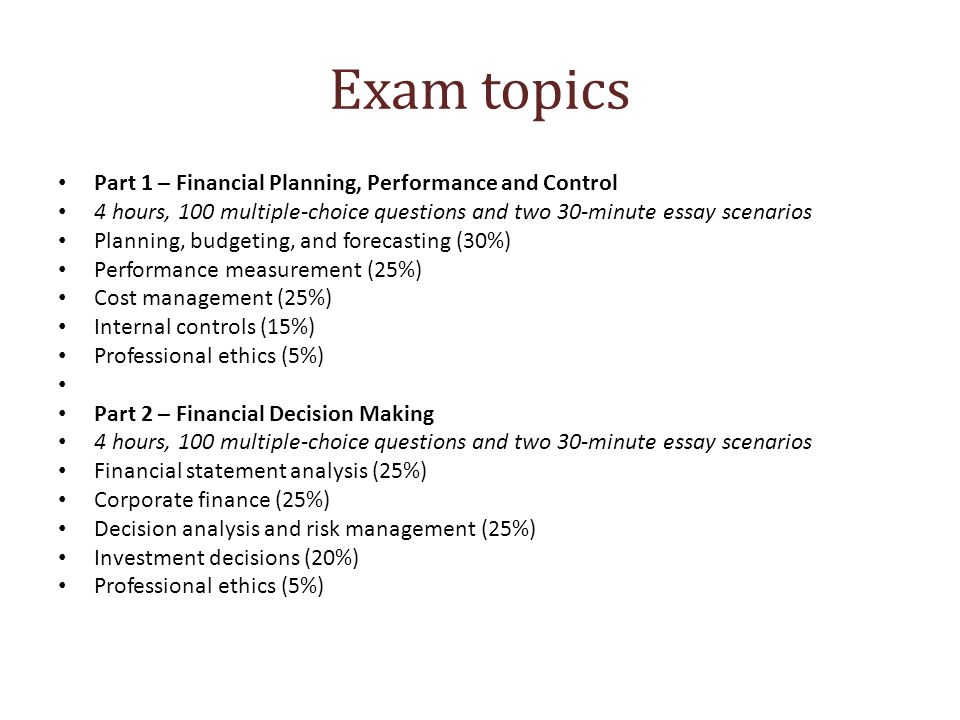 essays exam topics part financial planning performance and  essays 2 exam
