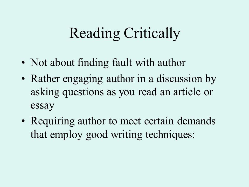 essay on reading
