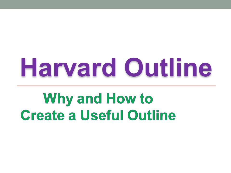 essay outline harvard