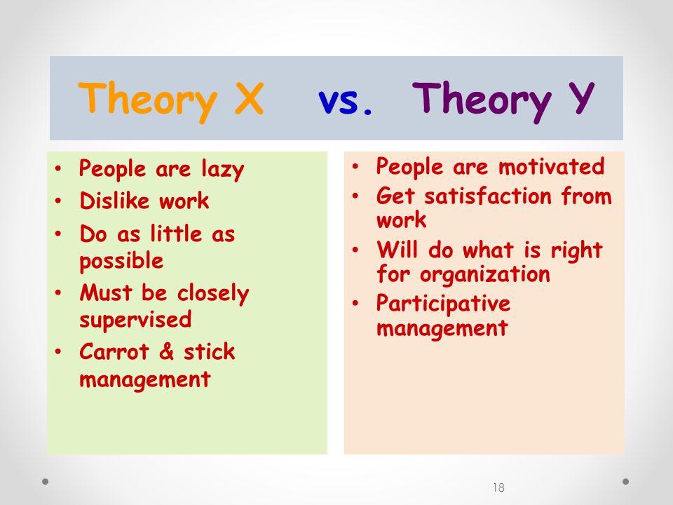 18 Theory X vs.
