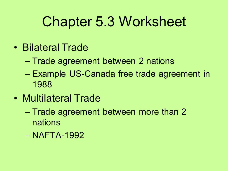 Chapter 53 chapter 53 worksheet free trade supports what and 4 chapter 53 worksheet bilateral trade trade agreement between 2 nations example us canada free trade agreement in 1988 multilateral trade trade platinumwayz