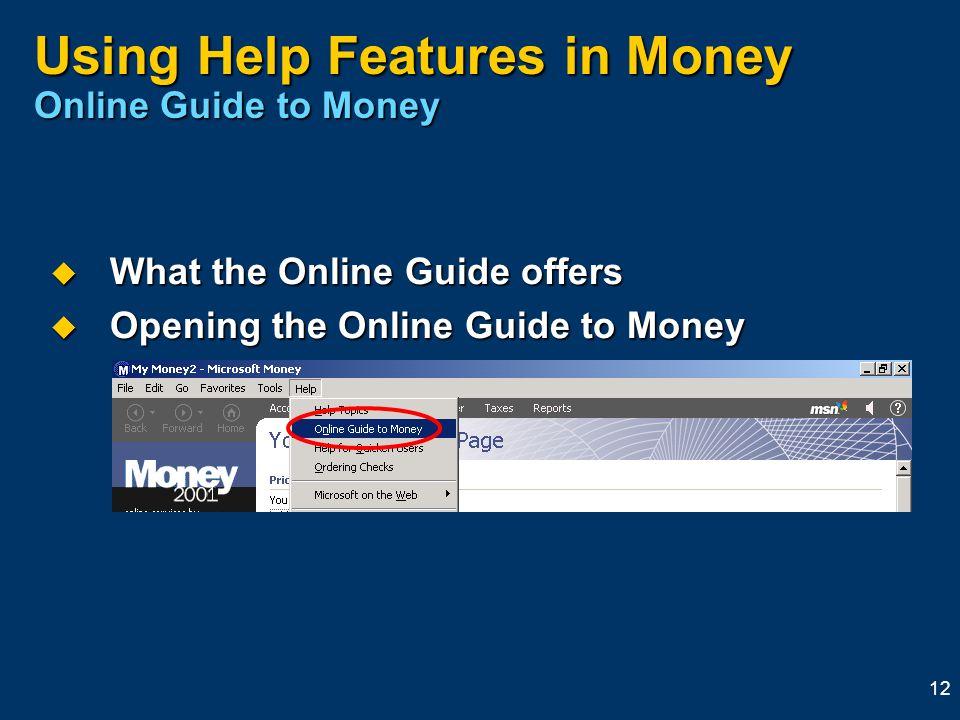 microsoft money help