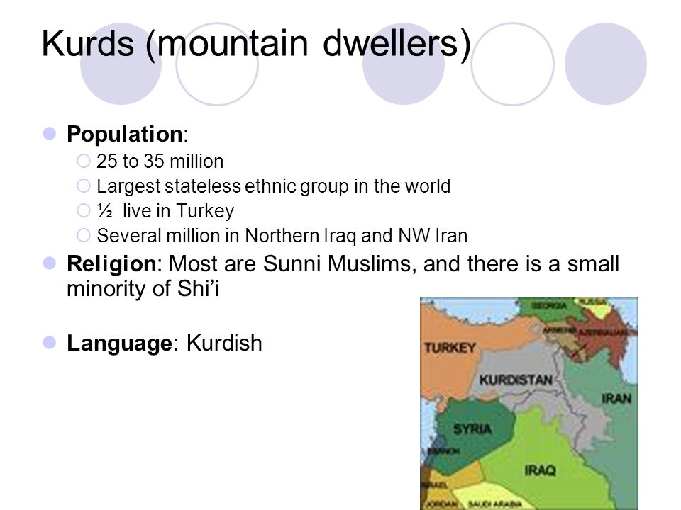 an analysis of the kurds in the largest middle eastern ethnic groups The three major ethnic groups what are the key ethnic groups in the middle east there are roughly 35 million kurds in the middle east 5) middle eastern.