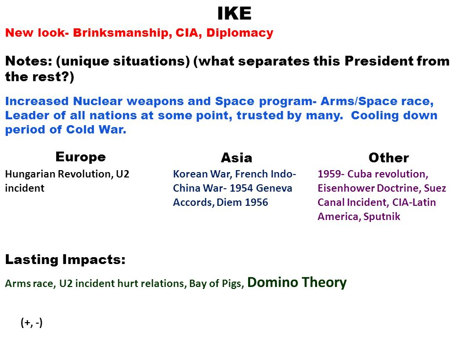 cold war essay question assess the foreign polices of three cold  3 ike