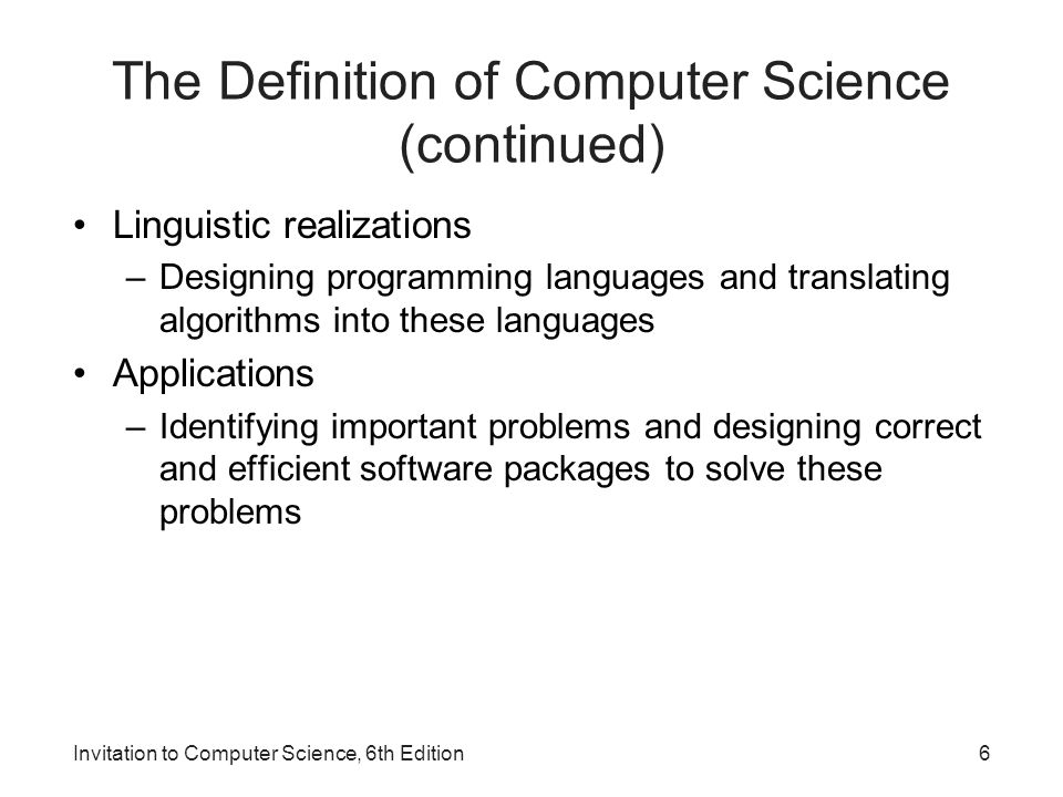 1 invitation to computer science 6 th edition chapter 1 an 6 the definition stopboris Gallery