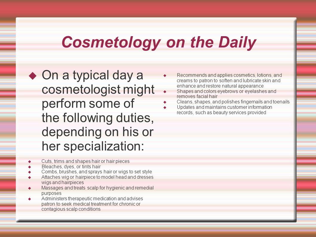 job duties of a cosmetologist
