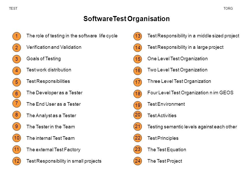 SoftwareTest Organisation TESTTORG The role of testing in the ...