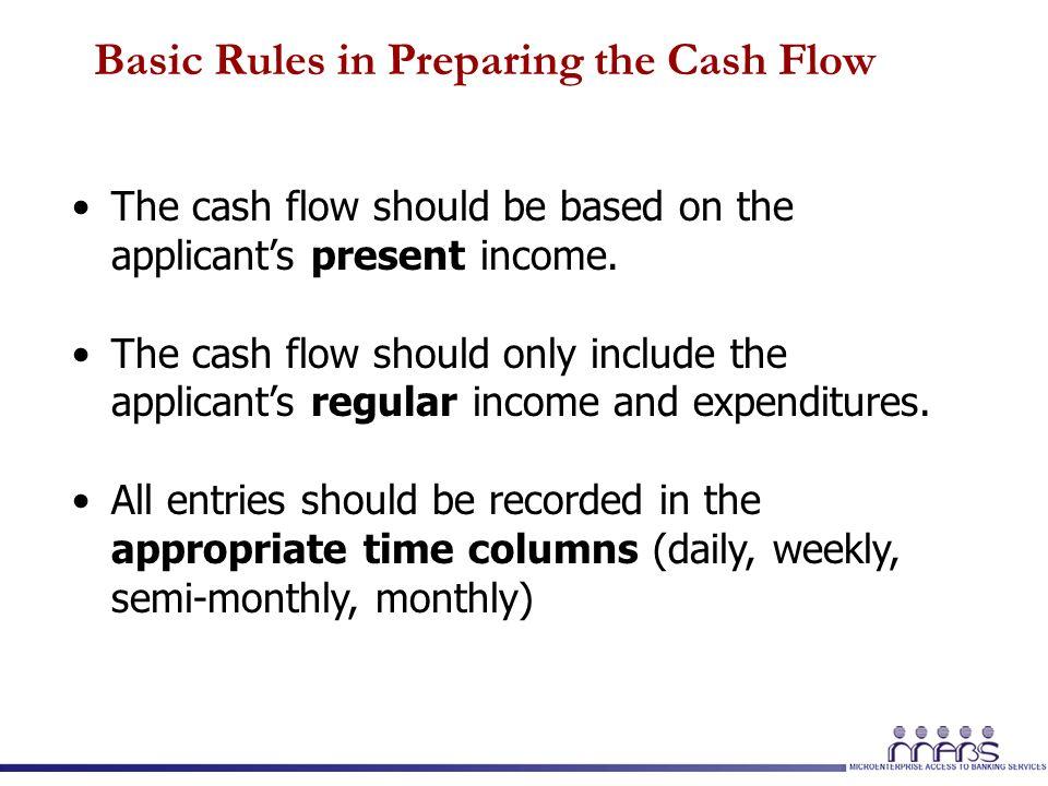 1 Module 5, Session 1 Preparing the Client's Non-Farm Cash Flow ...