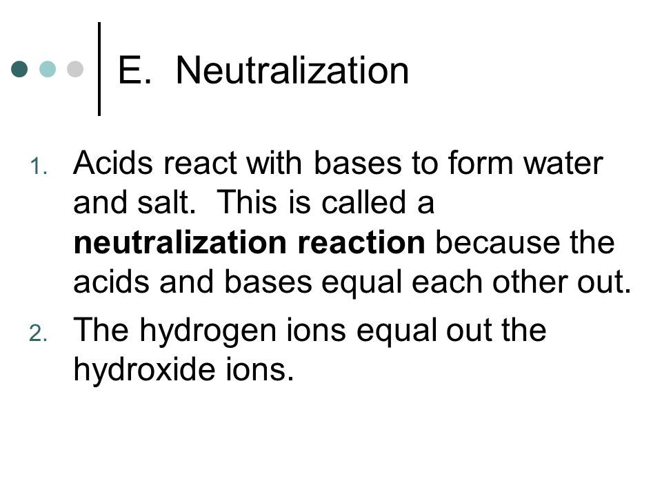 Acids and Bases. A. Definitions 1. Acid releases hydrogen ions (H ...