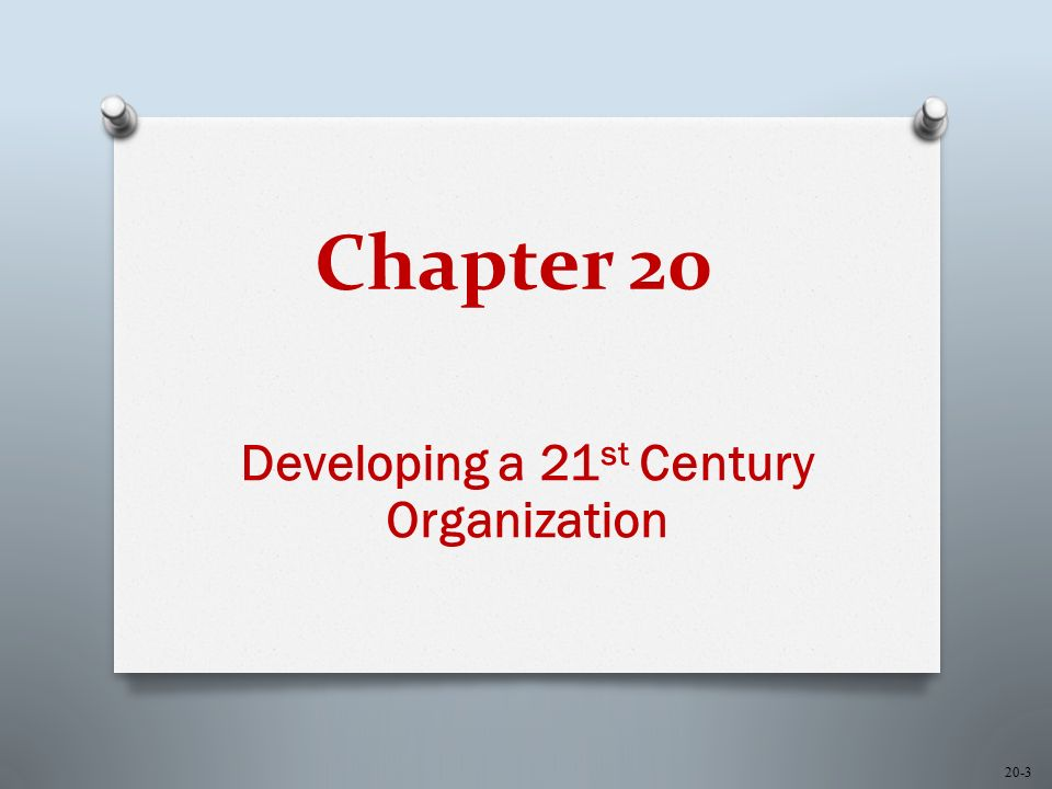 20-14 Increased Focus on Integration O A new series of business success factors and challenges are emerging O Organization agility O Focus on core competencies and processes O Redefinition of the value chain O Instantaneous business response O Ability to scale resources and infrastructure across geographic boundaries