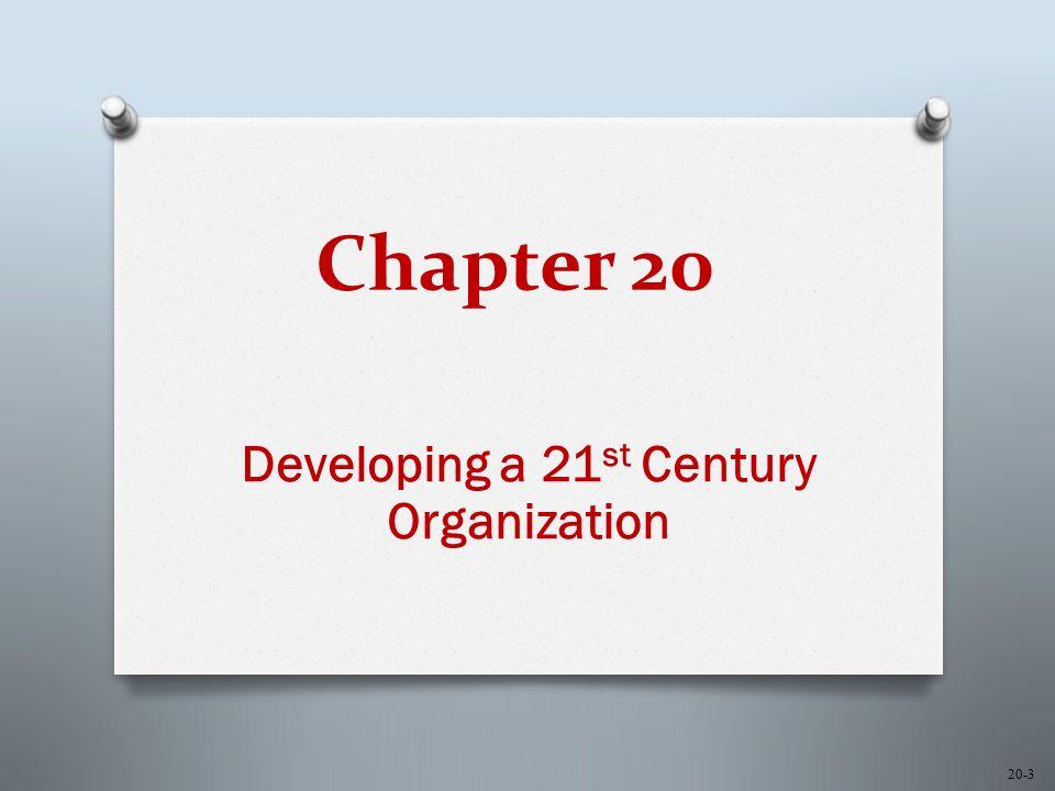 Chapter 20 Developing a 21 st Century Organization 20-3