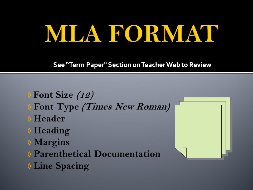 best font for term papers A term paper is usually assigned to students as a research assignment that covers most of the material given over an academic term: a semester, or a whole academic year.