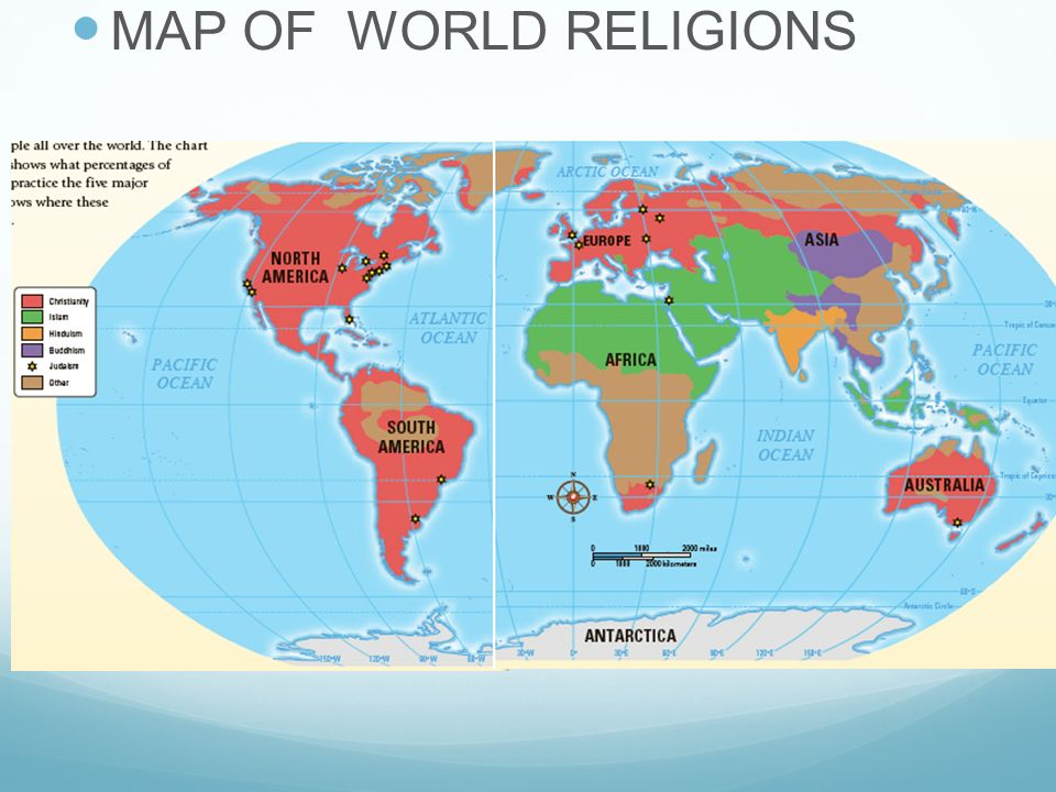 Islam Judaism And Christianity All Religions Are Very Similar - World religion map judaism
