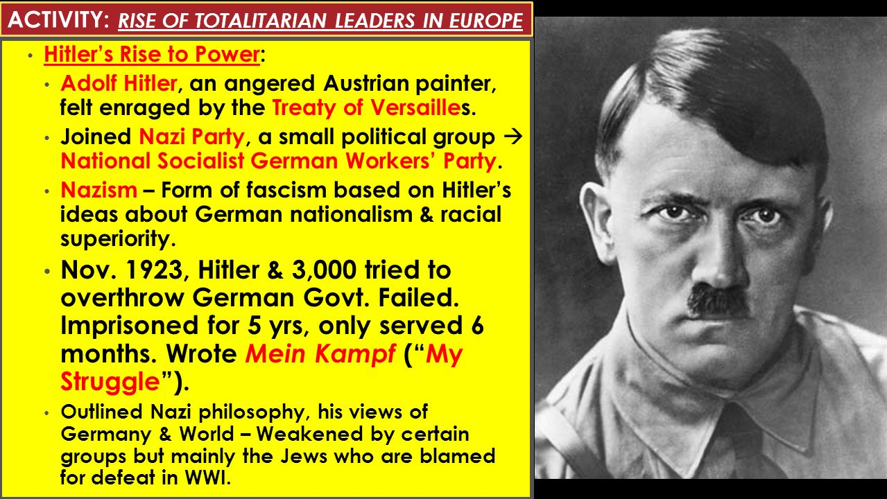 WORLD WAR II: RISE OF TOTALITARIAN LEADERS MARCH 10 & 11, ppt download