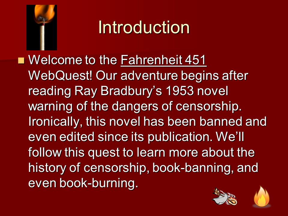 research papers censorship in fahrenheit 451 Free term paper on fahrenheit 451 available totally free , book reports & research papers 150,000+ papers overcoming censorship in fahrenheit 451 by ray.