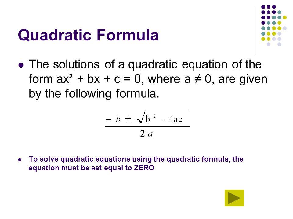 Solving Equations Using Quadratic Formula Solver - Tessshebaylo