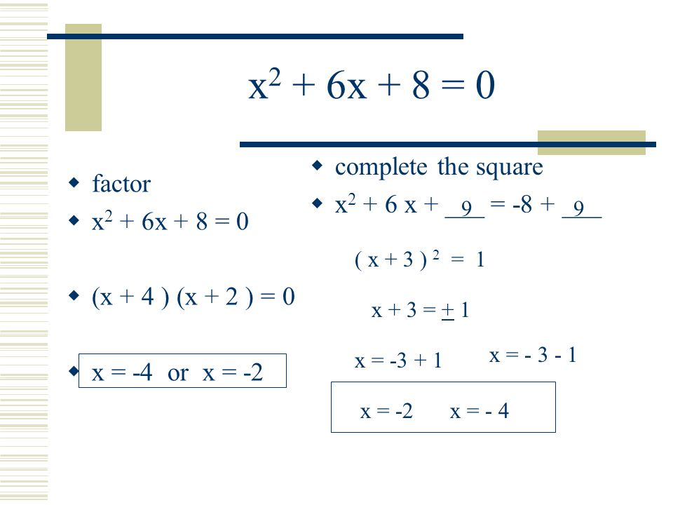 Quadratic Formula Standard Form Of A Quadratic Equation Ax 2 Bx