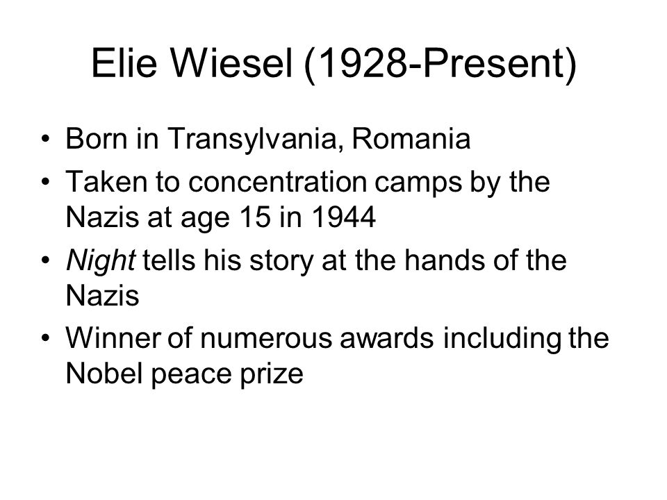essay questions about night by elie wiesel