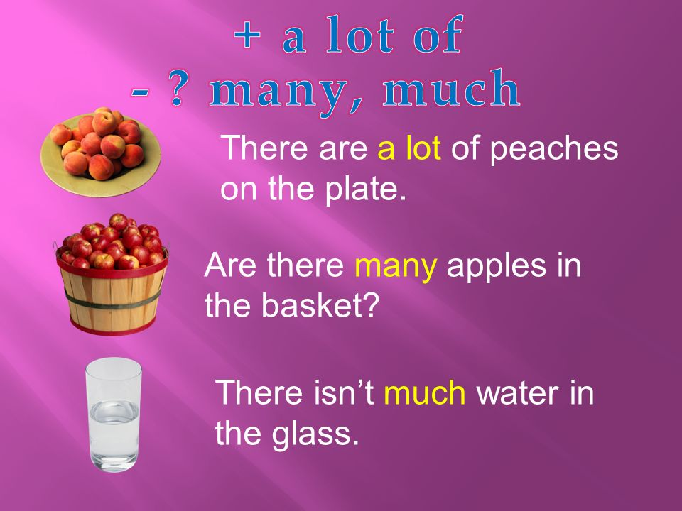 There are a lot of peaches on the plate. Are there many apples in the basket.