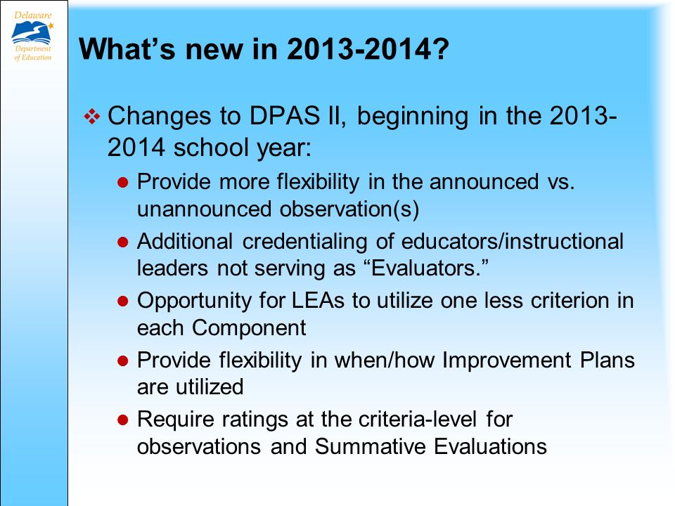 What's new in 2013-2014.