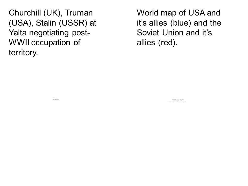 Churchill Uk Truman Usa Stalin Ussr At Yalta