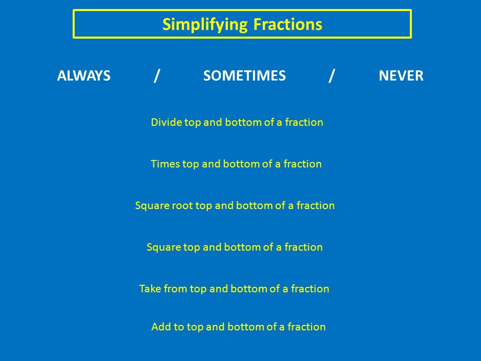 Simplifying fractions add to top and bottom of a fraction divide 1 simplifying ccuart Gallery