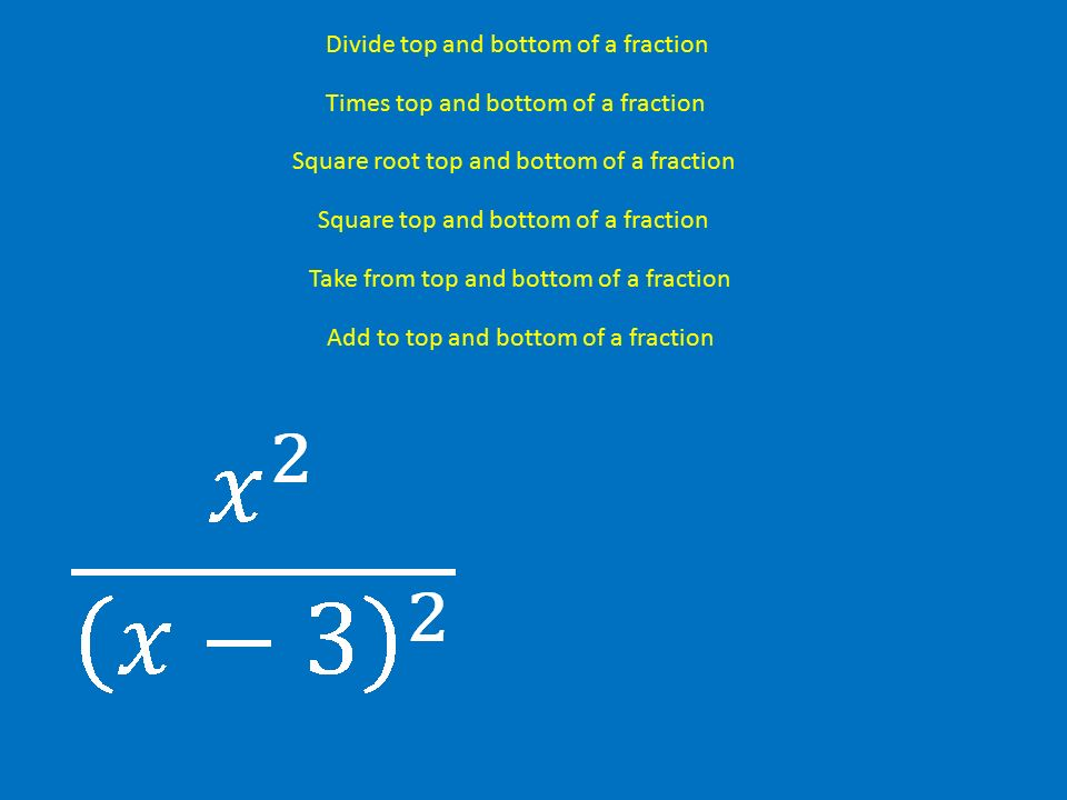 Simplifying fractions add to top and bottom of a fraction divide 3 add ccuart Gallery