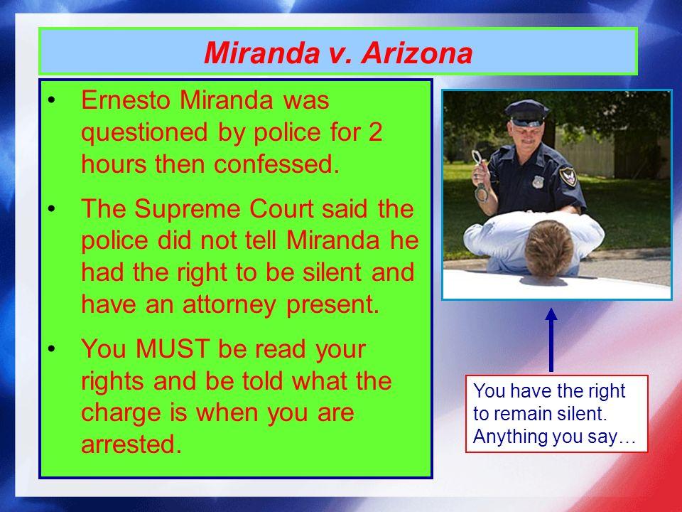 miranda v arizona 2 essay