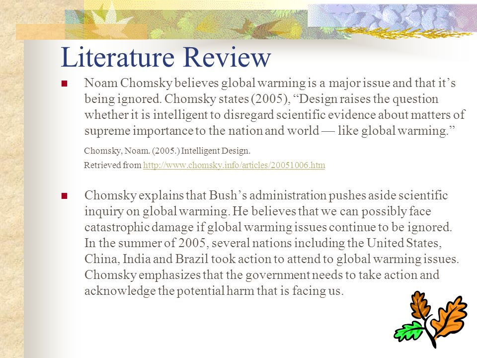 literature review of global warming An archive of the 2011 climate change literature review 2011 literature review archives - impacts and adaptation a moderate global warming scenario shows.