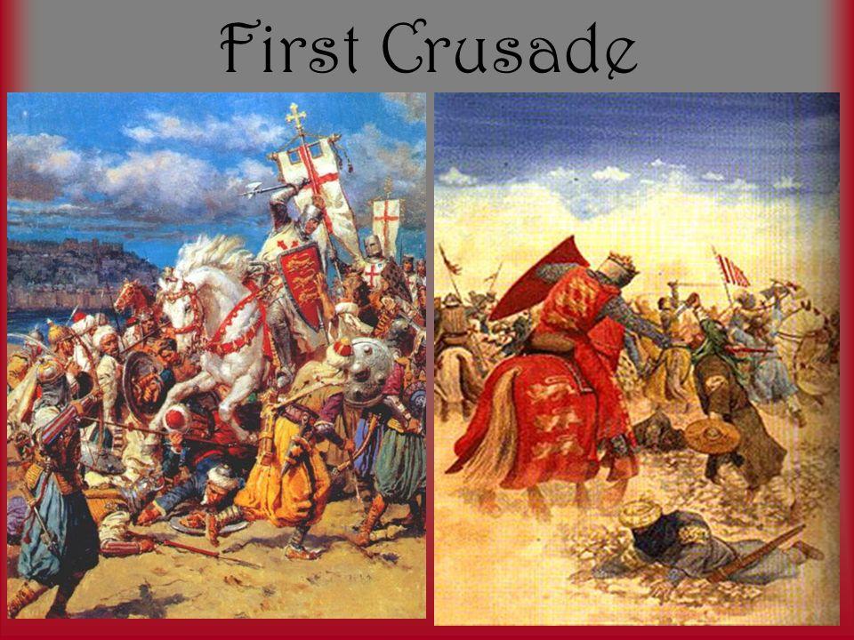 First Crusade Unprepared troops No strategy Captured Jerusalem Carved in up into 4 Crusader states