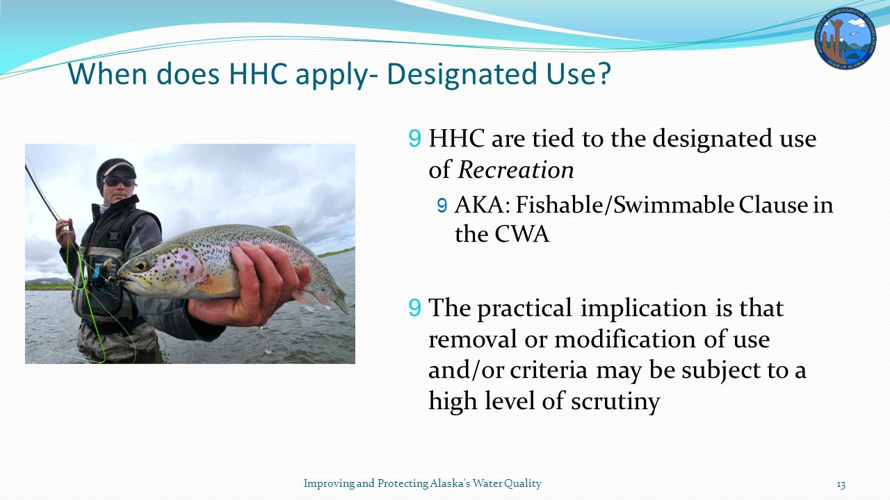 When does HHC apply- Designated Use.