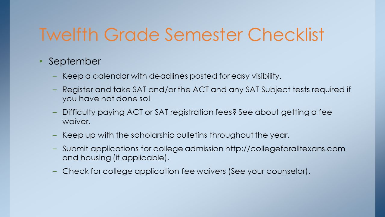 stratford high school fall senior semester plan ppt 8
