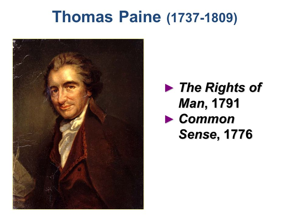 Thomas paine rights of man argument essay