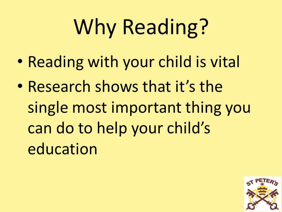 Reading Information Evening January Why Reading? Reading with your ...