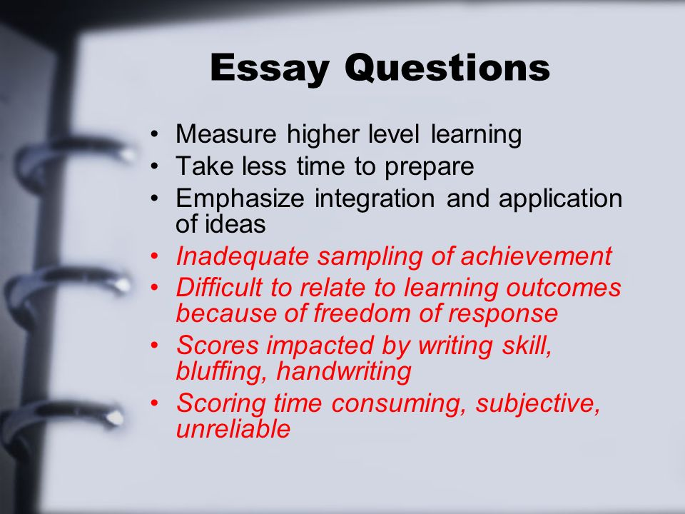 writing supply items gronlund chapter supply type items  5 essay questions measure
