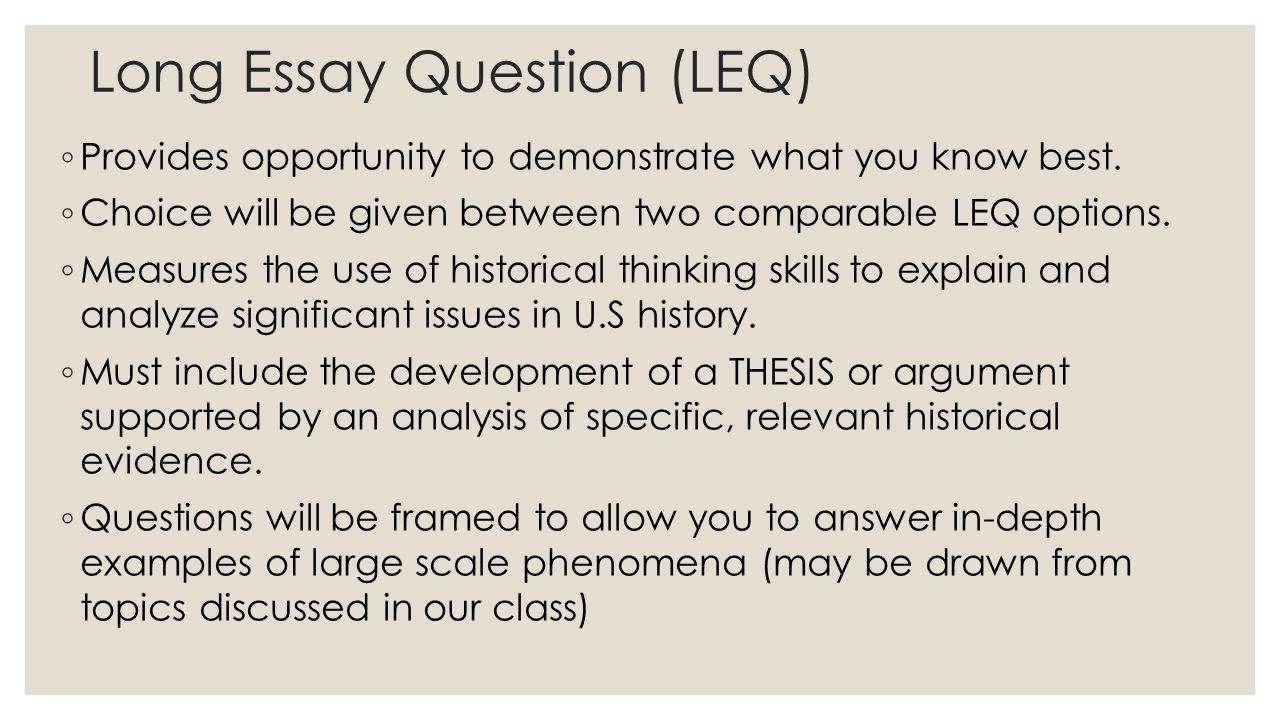 historical thinking skills skill typehistorical thinking skill i long essay question leq 9702 provides opportunity to demonstrate what you know best
