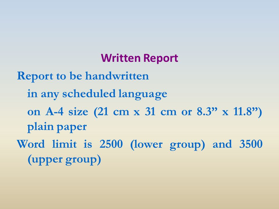 Please help. what is a report? how to write it?