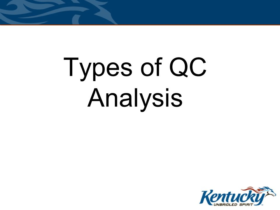 Types of QC Analysis