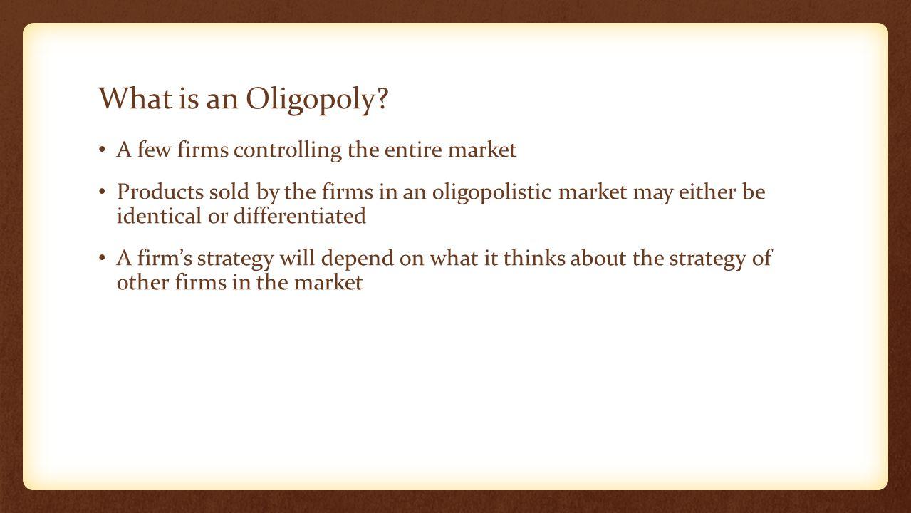 oligopolistic market Oligopolistic competition in the uk grocery market the uk grocery market is characterised by a market leader (tesco's) and 3 other major firms (asda, sainsbury.