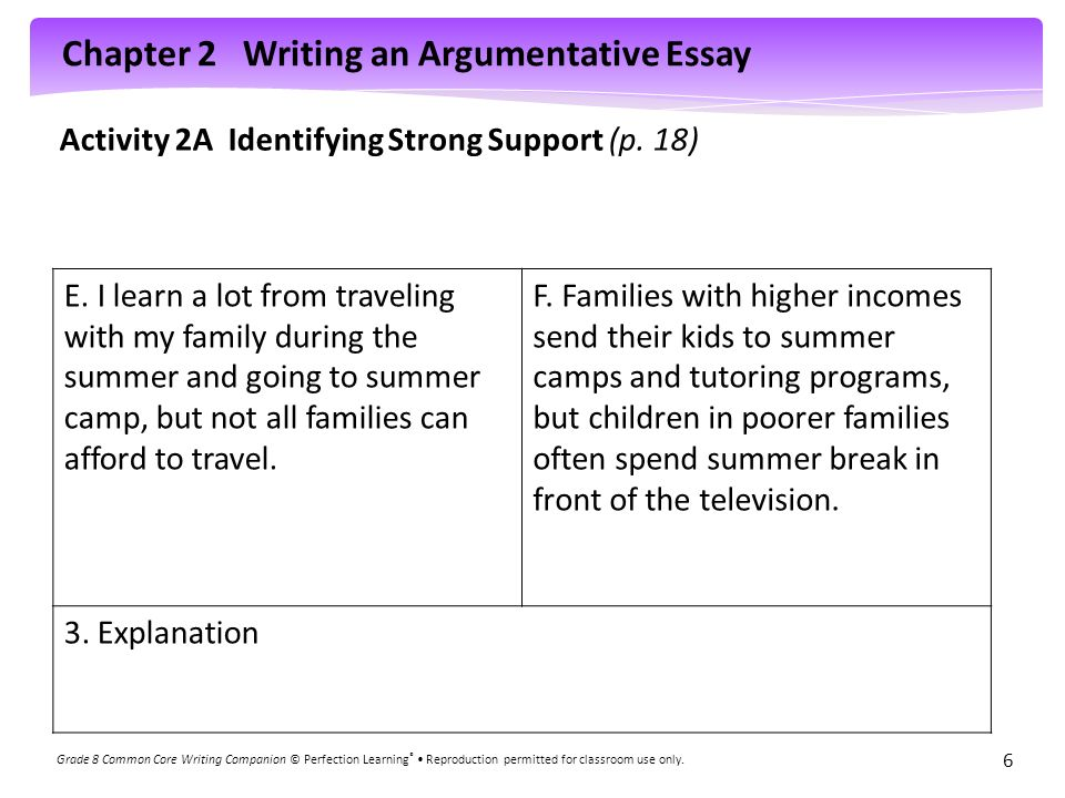 essay writing about family