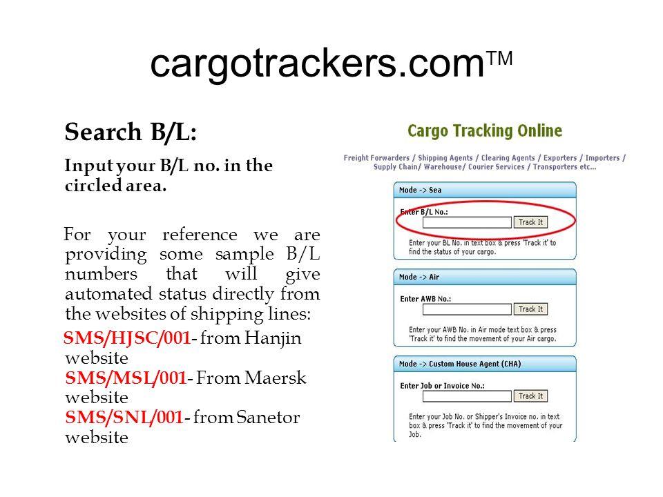 Welcome To Cargotrackerscom TM Demo Profile Kainaaz Infotec Was - Maersk invoice tracking
